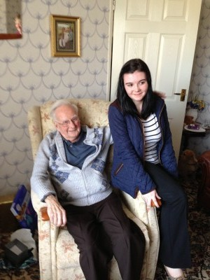 My much loved Granda with my daughter